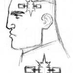 Schizzo di Francis Portela per il design di The Renegade