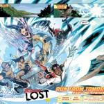 """Anteprima delle pagg.2-3 di """"Legion Lost"""" (vol.II) #1, disegni di Pete Woods"""